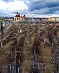 Prague train station Train Station, Prague, Railroad Tracks, Vineyard, Victoria, Photography, Outdoor, Instagram, Outdoors