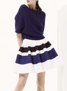 christian dior pre spring 2013. Love the navy, black,and white combo