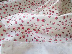 Stoff Blumen - Stoff,Samt stoff weiß mit Rosen,Baumwolle,Welvet - ein Designerstück von rote-tulpe bei DaWanda
