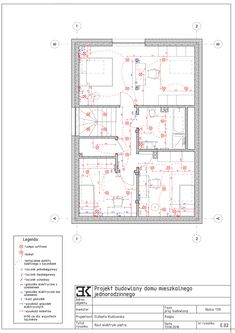 Elektryka schemat, gniazdka, lampy, kinkiety / Раскладка электрики, розетки, лампы, выключатели Residential Architecture, Periodic Table, Floor Plans, Periotic Table, Floor Plan Drawing