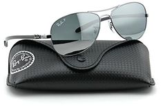 Aviator sunglasses |  RayBan RB8301 CARBON FIBRE Polarized Aviator Sunglasses Shiny Gunmetal Frame  Silver Miror Polarized Lens 004K6 56 >>> Details can be found by clicking on the image.-It is an affiliate link to Amazon.