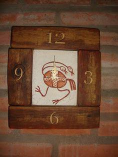 YUMBREL artesanias: Relojes en Pasta Piedra y madera