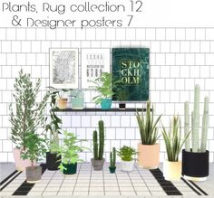 Hvikis: Plant recolors, rugs collection 12 and designer posters 7 • Sims 4 Downloads