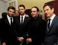 Dan Feuerriegel with Liam McIntire, Dustin Clare and Simon Merrels