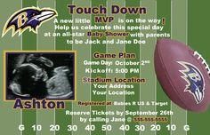 Baltimore Ravens Football Baby Shower invite. Oh my.