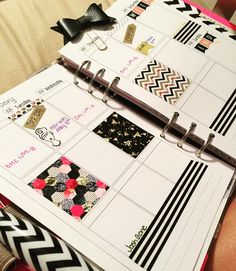 New to planning and I'm mixing up my patterns with the 2 sets of stickers from @loveyourplanners. I really like the pink black and gold motifs they have and can't wait to snag some of the black and gold. Now I have to patiently wait for the next code they drop so I can make a big order!!  #filofax #a5 #plannerlove #plannernewbie #amidoingthisright by deadmenbreaknohearts