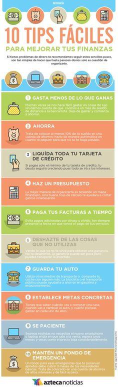 10 tips fáciles para mejorar tus finanzas #infografia