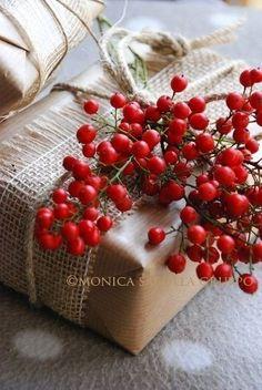 Осенняя упаковка подарка / Упаковка подарков /