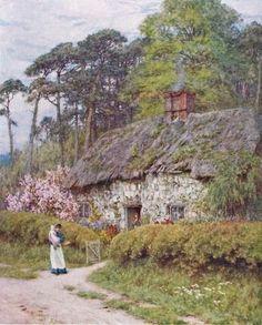 Helen Allingham pastoral cottage print