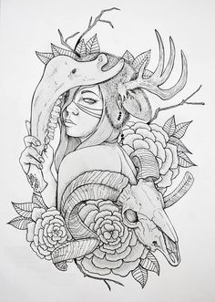 Animal Skin sketch tattoo
