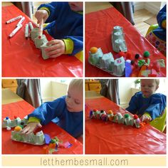 Daniel and I recently made an egg box snake - it's not the best but we had good fun!