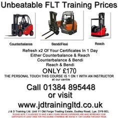 Refresh x2 forklift trucks in 1 day for only 170 at http://ift.tt/1HvuLik #training #offers #jobsearch #forklift