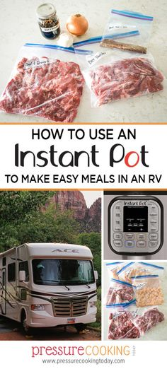 How to Use an Instant Pot to make easy meals in an RV Pressure Cooking Today, Pressure Cooking Recipes, Quick Meals, No Cook Meals, Frugal Meals, Camping Meals, Camping Cooking, Camping Recipes, Budget Recipes
