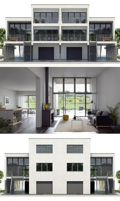 2016 duplex house design The most important function. Duplex House Design, Townhouse Designs, House Front Design, Small House Floor Plans, Modern House Plans, Rectangle House Plans, Duplex House Plans, Dream House Plans, Narrow House Designs