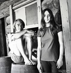 Susan Atkins pictured in front of the western facade at Spahn Ranch.