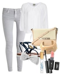 """""""Out"""" by b-maya ❤ liked on Polyvore featuring AG Adriano Goldschmied, Twist & Tango, Tory Burch, Lizzie Fortunato, Chanel and NARS Cosmetics"""