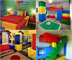 Lego furniture for kids rooms bedroom set bedroom kids bedroom themes bedro Lego Bedroom Decor, Bedroom Themes, Bedroom Sets, Kids Bedroom, Bedroom Furniture, Master Bedroom, Kids Rooms, Deco Lego, Lego Furniture