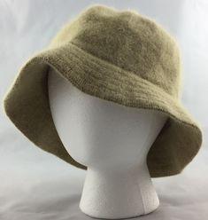 Womens Bucket Hat Cloche Wool Angora Blend One Size Beige Betmar New York   K-645 ead2d28375ef