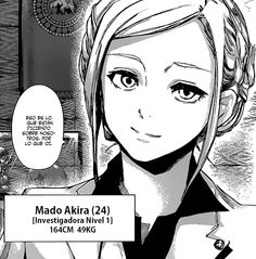 Akira Mado. I'm still figuring her out. If it came to it is there any chance she would support the ghouls or is she pro-human all the way? I don't know if she's one of those characters that could be swayed.