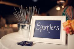 Reception Sparklers - Navy, White, and Coral Palette - Beach Wedding Ceremony at The Sunset Restaurant - Malibu, California - Photography: www.shannonleeimages.com