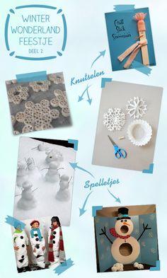 spelletjes en knutselideeen voor 'Frozen' Winterwonderland feestje
