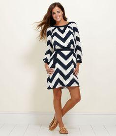 Chevron 3/4-Sleeve Dress from Vinyard Vines!