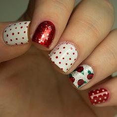 roses + polka dota + glitter / christmas
