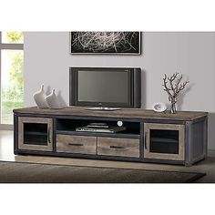 Heritage Rustic Entertainment Center LCD Plasma LED TV Home XBOX XBMC New Free