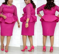 African Dresses Women Dashiki Fashion Plus Size Rose Decoration Patchwork Mesh Pearl Sleeves knee-Length Dress Elegant Clothing Belted Shirt Dress, The Dress, Bodycon Dress, Lovely Dresses, Elegant Dresses, Elegant Clothing, Curvy Outfits, Fashion Outfits, Work Outfits