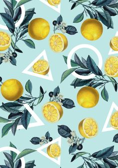 "ktt: ""Geometric and Lemon Pattern by Burcu Korkmazyurek """