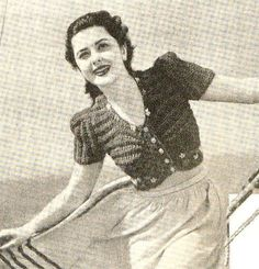"""style """"Sail Away"""" -quick Knitting Pattern- cropped knitted top or bolero and Fashion Days, 40s Fashion, Australian Vintage, Quick Knits, Woolen Mills, Vintage Knitting, My Collection, Pattern Books, Etsy Vintage"""