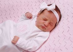 The Charlotte Gown - Coming Home Outfit - New Baby Gift - Baby Shower Gift - Monogramed Layette Gift Set - Newborn Pictures - Pima Cotton on Etsy, $28.95