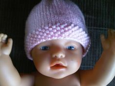 Caron simply soft yarn in pale pink. Size 6 circular Size 6 DPN& Yarn needle for weaving ends. Long tail case on 71 stitches. Baby Hat Knitting Patterns Free, Baby Hat Patterns, Baby Hats Knitting, Crochet Baby Hats, Loom Knitting, Knitted Hats, Free Knitting, Newborn Knit Hat, Newborn Hats
