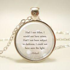Inspirational Quote Necklace Pendant Midrash Hebrew by rainnua, $14.45