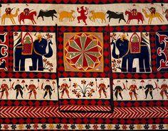 Wall hanging (detail), cotton appliqué Gujarat 20th century, Victoria and Albert Museum London
