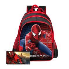 2017 High Quality Nylon Cartoon Spiderman Children School Bags For Girls Boys Backpacks Kids School Backpack Waterproof Bag