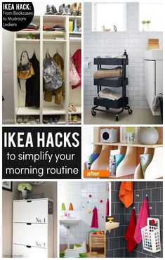 Some of the very best IKEA Hacks and DIY ideas to help Simplify your life and your morning!