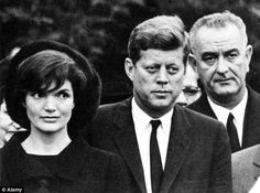 President Kennedy, Jackie and VP Lyndon Johnson at the funeral of Eleanor Roosevelt.