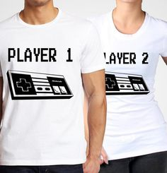 His and Hers. Player 1 and Player 2 Nes Shirts by 1622 on Etsy, $14.99