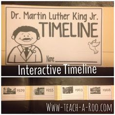 We have been learning all about Martin Luther King Jr. this week with a lot of fun activities. One of the class favorites was comparing bro. 4th Grade Social Studies, Social Studies Activities, Teaching Social Studies, Martin Luther King, Fun Classroom Activities, Classroom Ideas, Holiday Activities, Interactive Timeline, Sentence Strips
