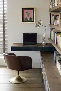 Love this neat and elegant home office designed by Rose Uniacke.