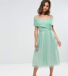 ASOS Petite ASOS PETITE WEDDING Tulle Midi Dress (ad)