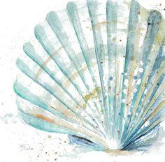 Painting Prints, Art Prints, Shell Painting, Canvas Wall Art, Canvas Prints, Painted Shells, Illustration, Coastal Art, Shell Art