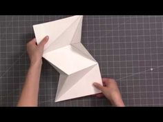 """cardmaking video tutorial"""" How to Fold the Mini Modified Miura Ori . Letter Folding, Paper Folding, A4 Paper, Fancy Fold Cards, Folded Cards, Types Of Folds, Bookbinding Tutorial, Up Book, Card Tutorials"""
