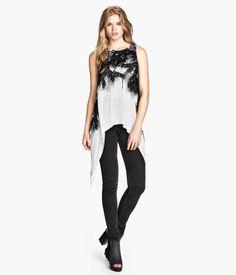Palm print long shirt, Spring 2014 | H&M US