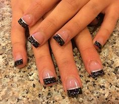 Black French manicure