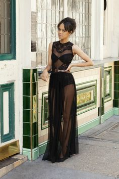 sheer maxi - I really want one of these (though I probably won't wear it exactly like this, LOL!)