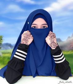 Arab Girls, Muslim Girls, Muslim Women, Islamic Fashion, Muslim Fashion, Hijab Fashion, Hijabi Girl, Girl Hijab, Islamic Cartoon