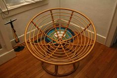 Rattan Papasan Chair - It isn't a simple topic for a lot of to debate however we all need to face the undeniable fact that the speed of obesity is Papasan Cushion, Papasan Chair, Stool Chair, Diy Chair, Chair Redo, Wooden Chair Makeover, Stool Makeover, Best Wood For Furniture, Street Furniture