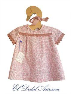 Vestido bebé en villela Hipster Babies, Creations, Tops, Dresses, Fashion, Vestidos, Sew, Suits, Manualidades